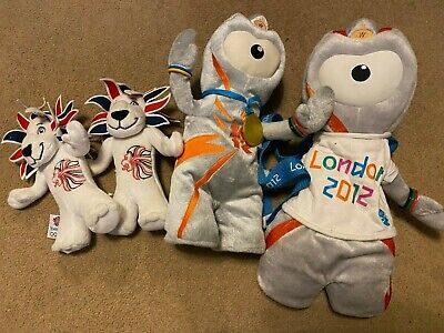 Wenlock And Lions London 2012 Olympic Mascots Teddy & Backpack • 5£
