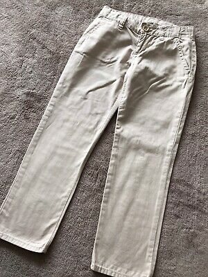 £5.99 • Buy Lovely Girls Gap Classic Style Chinos Trousers Cream Age 7 Yrs Immaculate #338