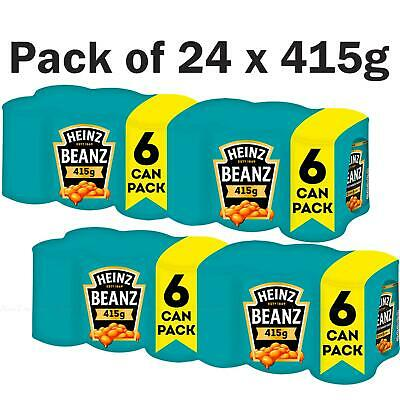 Heinz Baked Beans In Tomato Sauce Catering Original Tin Cans - Pack Of 24 X 415g • 19.79£