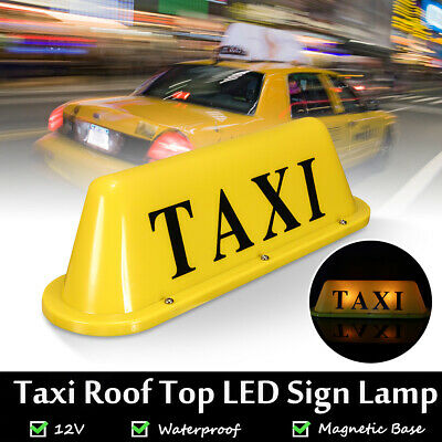 $18.99 • Buy Bright LED 12V Car Taxi Cab Roof Top Topper Sign Light Lamp Magnetic Yellow US