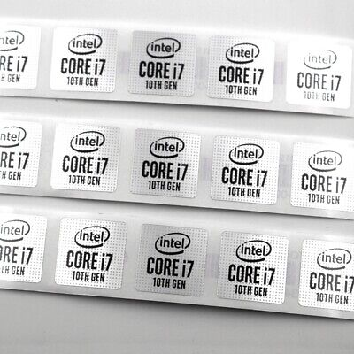 $ CDN171.28 • Buy 1000X LAPTOP PC STICKER LOGO DECAL BADGE  Intel CORE I7 10th Gen 18*18mm Sliver
