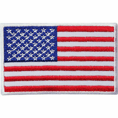 USA United States Of America Flag Embroidered Iron-On/sew-On Patch/Badge • 2.39£
