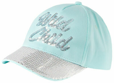 £6.99 • Buy Girls Sequin Baseball Cap Mint Sparkly Summer Sun Hat Kids New Age 2-13 Years