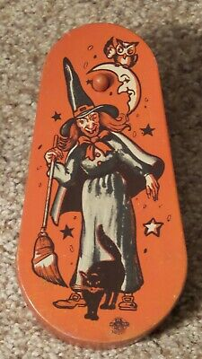 $ CDN63.44 • Buy Vintage Tin Lithograph Halloween Noisemaker With Wood Handle ~Nice One~