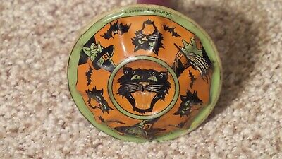 $ CDN126.87 • Buy Vintage Tin Lithograph Halloween Noisemaker With Wood Handle ~NICE ONE~