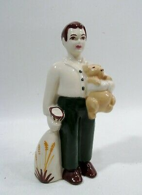 $24.99 • Buy Vtg CERAMIC ARTS STUDIO Boy W Teddy Bear Figurine Midcentury