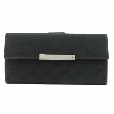 $255.55 • Buy GUCCI  112715 Long Wallet (with Coin Pocket) GG Pattern Canvas