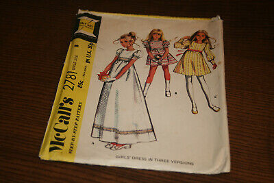 Vintage McCalls Sewing Pattern 2781 Girls Party Bridesmaid Dress Size 8 Chest 27 • 8.50£