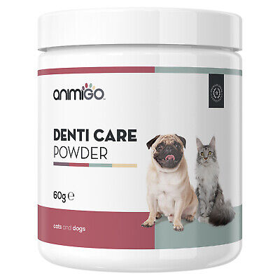 Oral Care For Dogs & Cats | Pet Teeth Cleaning Powder And Plaque Remover - 60g • 9.99£