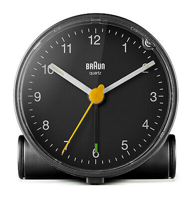 AU83.95 • Buy Black Analogue Classic Alarm Clock With Black Dial By Braun