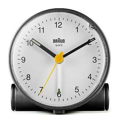 AU83.95 • Buy Black Analogue Classic Alarm Clock With White Dial By Braun