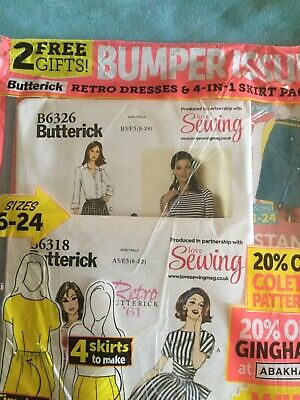 $19.99 • Buy LOVE SEWING Magazine #43 Bumper Issue  TWO BUTTERICK Patterns