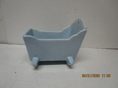 $4.99 • Buy Vintage Haeger Ceramic Baby Blue Cradle Planter
