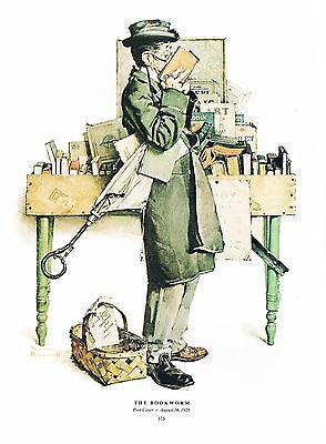 $ CDN9.97 • Buy Norman Rockwell Print:  THE BOOKWORM   11 X 15  Library Librarian Book Store