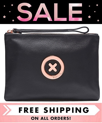 AU49 • Buy Mimco Supernatural Medium Pouch Black Rose Gold Clutch Bnwt Rrp$99- Free Post