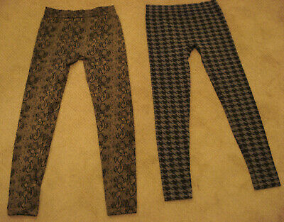 $7.99 • Buy Lot Of 2 Women's Stretch Leggings Size Small Houndstooth Snakeskin