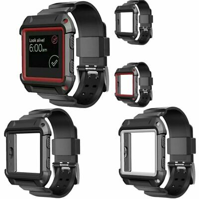 AU19.39 • Buy Rugged Protective Case + Silicone Strap Band Protect For Fitbit Blaze SmartWatch