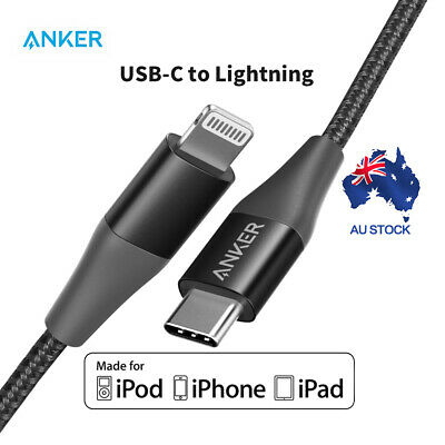 AU28.86 • Buy Anker USB C To Lightning Cable(0.9m)Powerline+ II USB Cable For IPhone Black