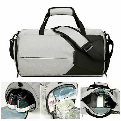 AU25.99 • Buy Gym Duffel Bags 20L Canvas Travel Bag Waterproof Fitness Shoes Compartment Shoe