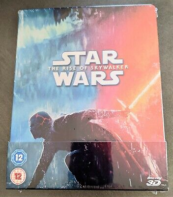 AU116.05 • Buy STAR WARS RISE OF SKYWALKER IX 3D + 2D Blu-ray Zavvi UK Limited Ed. STEELBOOK