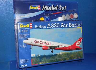 Revell 1/144 64861 Airbus A320 Air Berlin Model Kit Gift Set • 11.99£