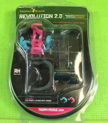 $45 • Buy Trophy Ridge Revolution 2.0 RH Full-Capsule Fall Away Rest, Pink/Blue, Brand New