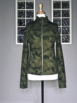 $ CDN270 • Buy Lululemon Forme Jacket 8 Savasana Camo 20 Cm Fatigue Green Eeuc