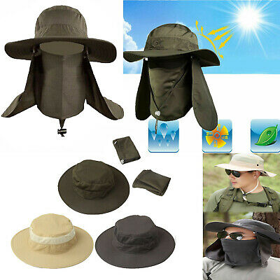 $9.55 • Buy Outdoor Men Women Hiking Fishing Hat Sun Protection Neck Face Flap Cap Wide Brim
