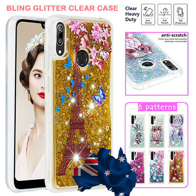 AU13.99 • Buy Huawei Y5 7 9 Prime P30 Pro Nova 3e Shockproof Clear Glitter Bling Case Cover