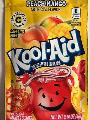 32 Kool Aid Drink Mix PEACH Mango Combined Shipping Popsicle Flavor Party Citrus • 11.14£