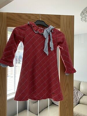 """Girls """"Quinper"""" Dress Spanish/romany Style Red Check Age 4/5/6 • 1.30£"""