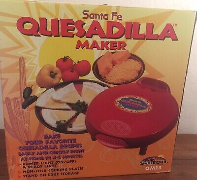 $32.50 • Buy Santa Fe Quesadilla Maker QM2R Red Power Light Stand On Edge Storage
