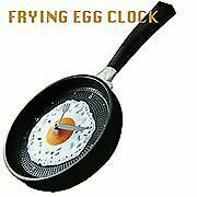 Hometime Frying Pan Wall Clock With Egg -Black • 30.01£