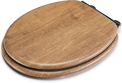 Ontario Always Fits Never Slips Slow Close Anti Bacterial Toilet Seat Wood NEW • 57.56£