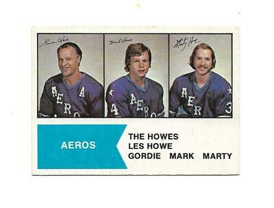 $1.25 • Buy 1974-75 OPC WHA:#1 The Howes (Gordie/Mark/Marty)