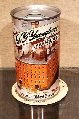 $6 • Buy  1980 Yuengling Steel Pull Tab Beer Can Pottsville Pa 151th Year Brewery Scene