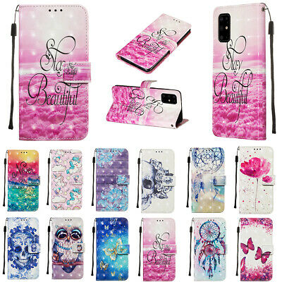 AU13.99 • Buy For Samsung S20 Ultra S8 9 10+ Plus Pattern Flip Leather Wallet Case Stand Cover