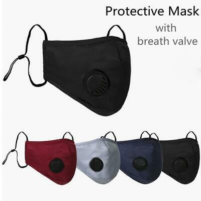 £2.65 • Buy 4 Layer Face Mask Air Filter Valve Washable Reusable Breathable Adult PM 2.5+