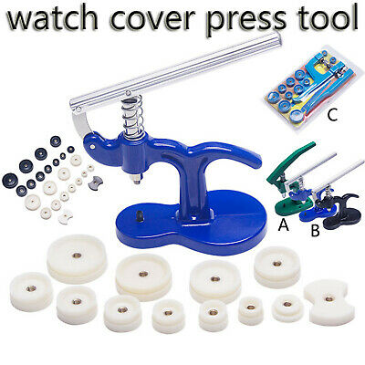 $ CDN27.15 • Buy Watch Back Case Remover Cover Fitting Tool Watchmaker Repair Kit Pressing Dies