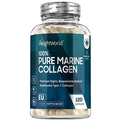 £12.79 • Buy Pure Marine Collagen 120 Capsules For Anti Ageing, Hair, Muscle, Nails & Joints