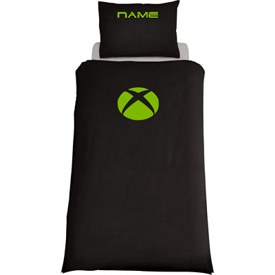 XBOX One Personalised Black Duvet Cover/Bedding Set  Gaming Single Or Double • 36.99£