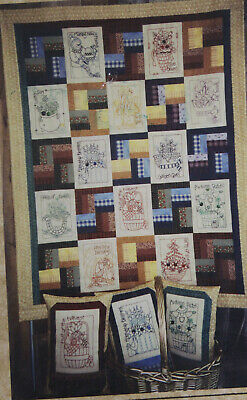 $5.99 • Buy OOAK Color Work Calendar Embroidery Pattern 134 For Pillows Quilt Once Upon Vine