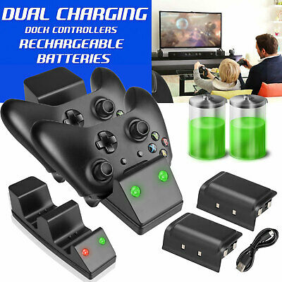 $18.97 • Buy Charging Charger Dual Dock+Rechargeable Battery For Xbox One Controller Gamepad
