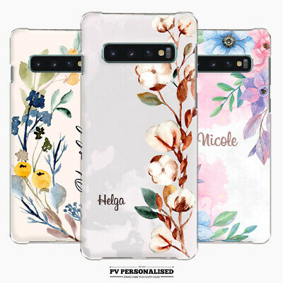 $ CDN3.39 • Buy Personalised Phone Case Cover Hard Name Initials Floral For Samsung S9 S10+ S20