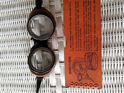 $10 • Buy Vintage Wilson Safety Goggles With Box  Found In My Grandfather's Attic.