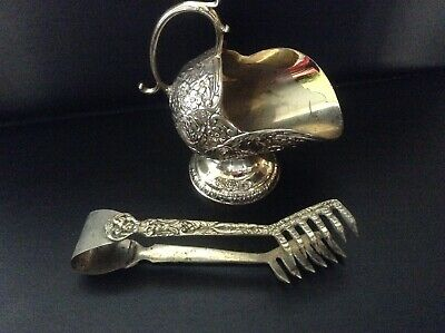 $5.99 • Buy Vintage Ornate Unknown Silver Sugar, Ice Tongs, And Scoop Very Unique!