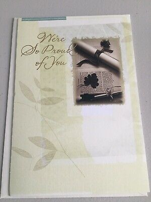 $2 • Buy HALLMARK Graduation Greeting Card With Envelope & Gold Seal New