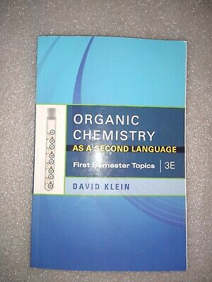 $39.95 • Buy First Semester Topics: Organic Chemistry As A Second Language :3E