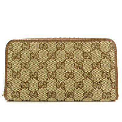 $420.85 • Buy GUCCI  363423 Long Wallet (with Coin Pocket) GG Pattern Canvas