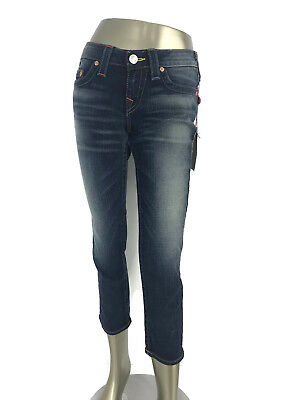$59.97 • Buy True Religion Brand Lizzy Straight Leg Cropped Jeans Sunset Pass Inseam 24   29